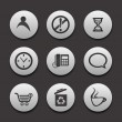 Set of different web Icons — Imagens vectoriais em stock