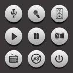 Music icons — Cтоковый вектор