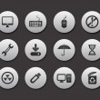 Office icon set — Imagen vectorial