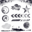 Grunge dots elements — Stock Vector