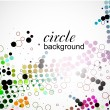 Abstract halftone circle background - Imagen vectorial
