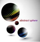 Abstraktní 3d koule — Stock vektor
