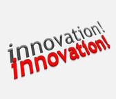 3d vector innovation text design — Stock Vector