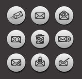 Set of Email Icons — 图库矢量图片