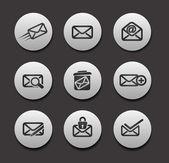 一组电子邮件图标 — 图库矢量图片