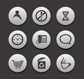 Set of different web Icons — Stock Vector