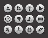 Rete sociale dei media — Vettoriale Stock