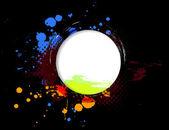 Grunge circle banner — Stock Vector