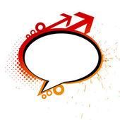 Grunge messenger window icon — Stock Vector