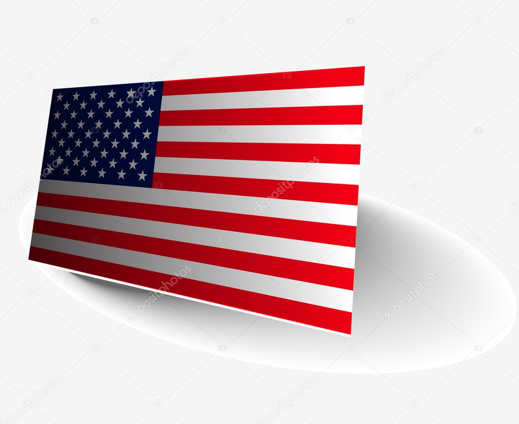 American Flag with exact official colors design, vector illustration. — Stock Vector #5730065