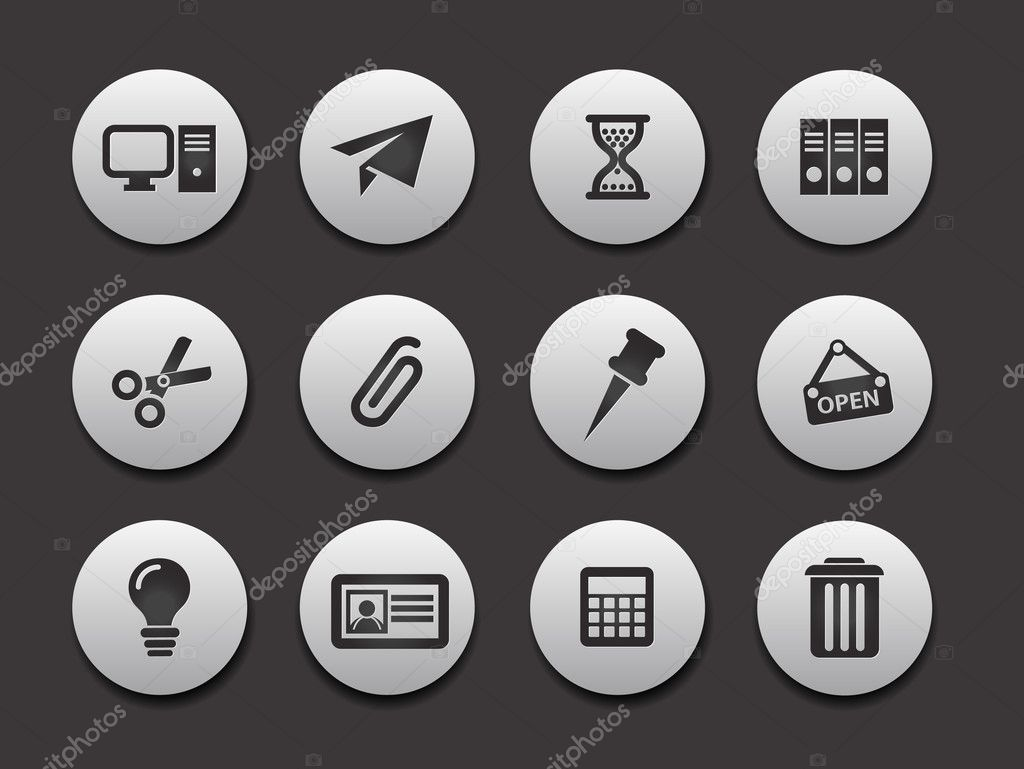 Set of Computer Icons graphics for web design collections.  Stock Vector #5735510