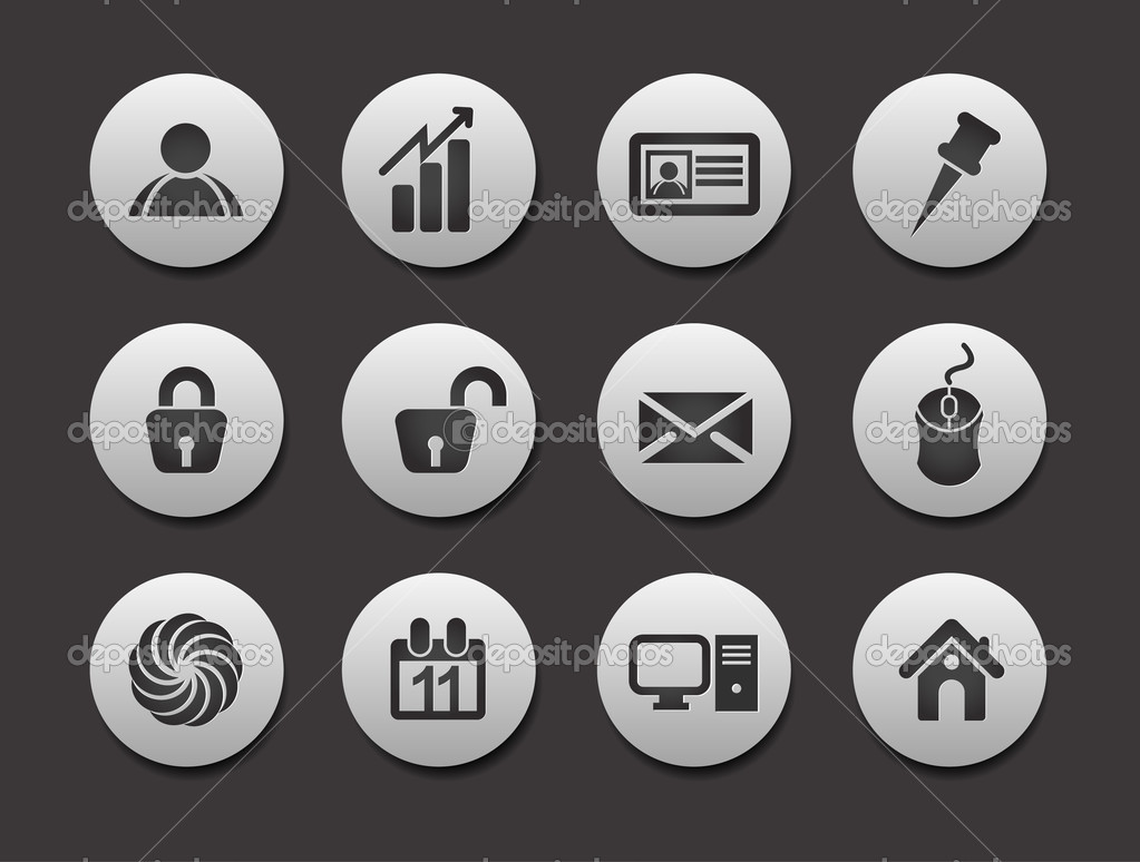 Set of different Shopping web icons graphics for web design — Stock Vector #5735537