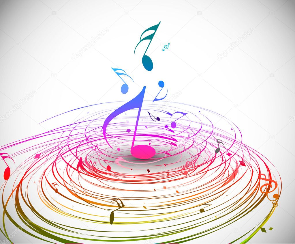 Rainbow Music Background Meaning Colorful Lines And Melody: Stock Vector © Redshinestudio #5735879