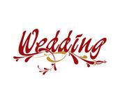 Wedding floral design — Stock Vector