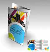 Tri-fold brochure design — Stock Vector