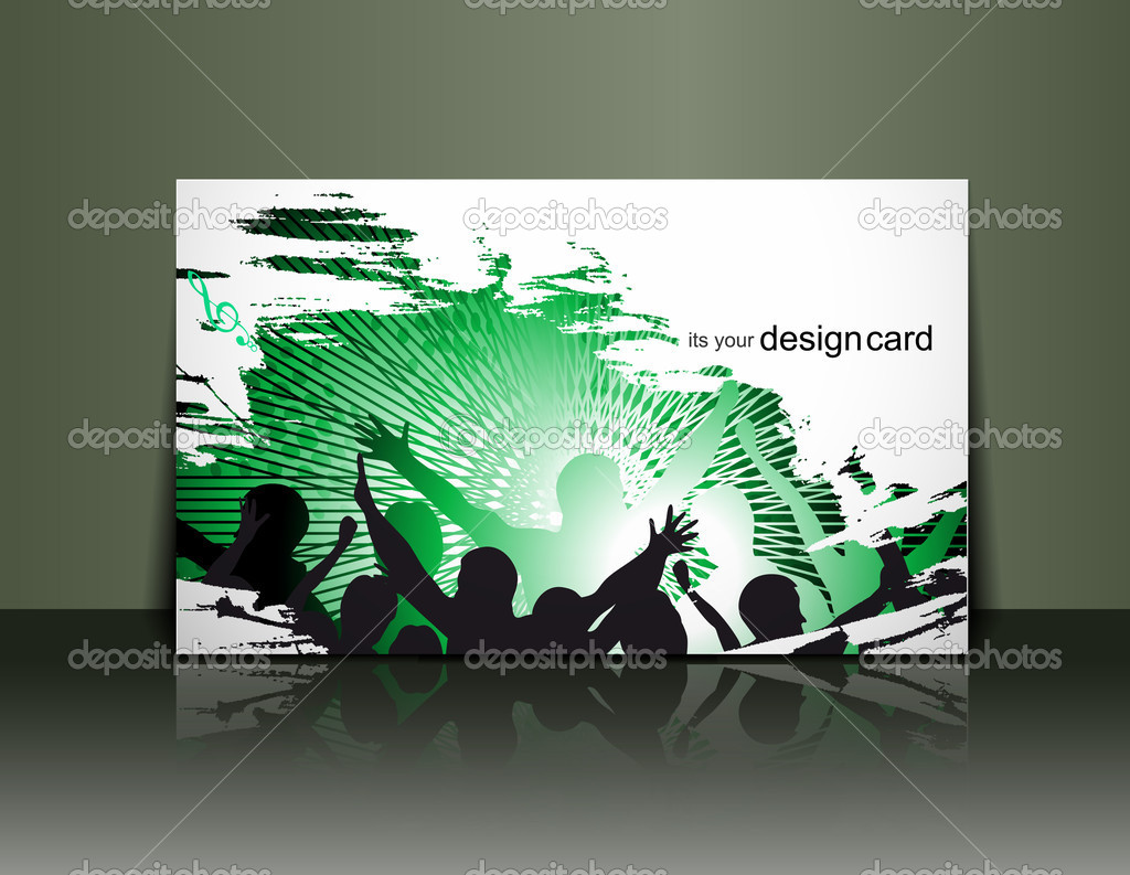 Beautiful gift card design element, vector illustration.  — Stock Vector #5740707
