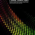 Colorful halftone circle — Stock Vector