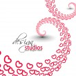 Vector de stock : Abstract heart background