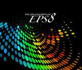 красочные полутоновых круг — Cтоковый вектор