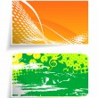 Beautiful card set design — Stock Vector