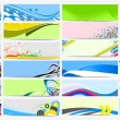 Headers collections — Stock Vector