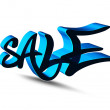 3d sale design — Vector de stock