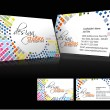 Vector business card set - Stock Vector