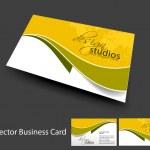 Vector conjunto de tarjeta de visita — Vector de stock