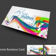 set di business carta vettoriale — Vettoriale Stock