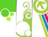 Soyut banner tasarımı — Stok Vektör