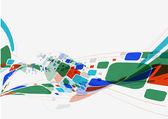 Abstracte golf achtergrond samenstelling — Stockvector