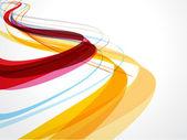 抽象波浪背景组成 — 图库矢量图片