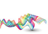 Abstract colorful wave line background — Stock Vector
