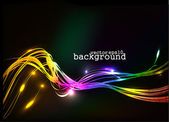 Abstract colorful wave background — Stock Vector