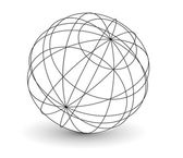 Wireframe globe i — Stock Vector