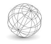 Wireframe globo mi — Vettoriale Stock