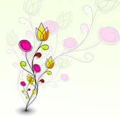 Abstract colorful spring flower pattern — Stockvektor