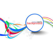 Abstracte kleurrijke cirkel banner — Stockvector