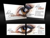 Vector business card set — Stock Vector