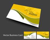 Vektor-business-karten-set — Stockvektor
