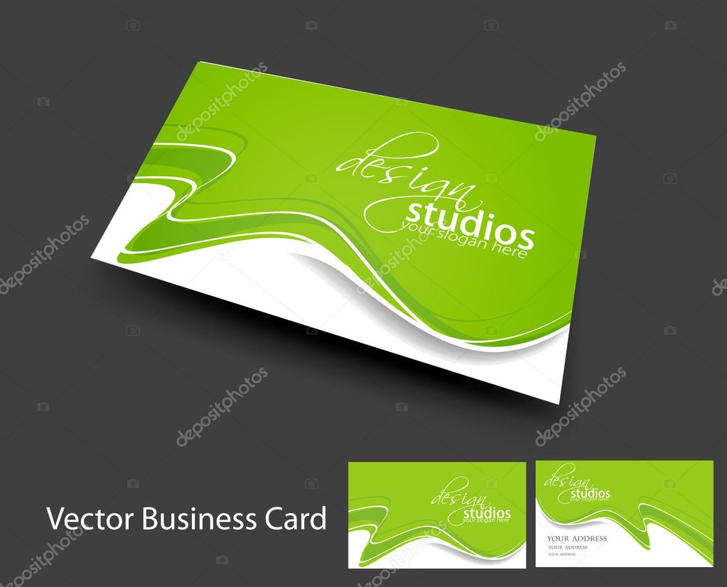 Vector business card set stock vector c redshinestudio 6275861 for Vectors business cards