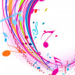Music note background — Stockvektor