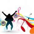 Dancing background - Stock Vector