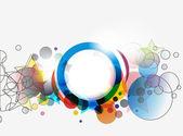 Abstract circles banner design — Stock Vector