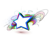 Abstract colorful stars background — Stok Vektör