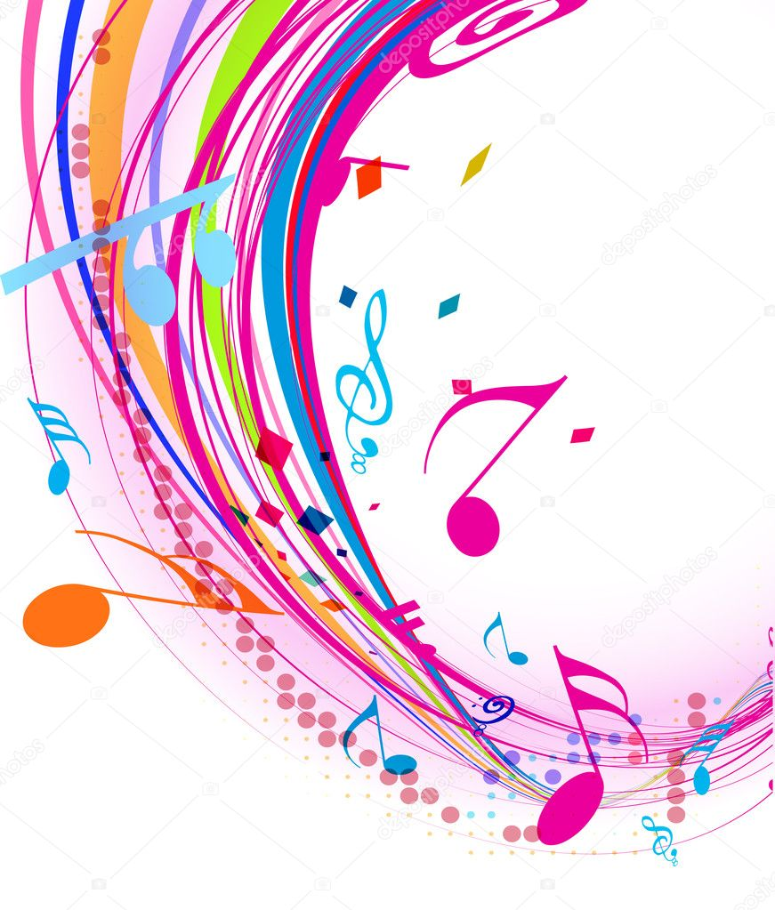 music note background vector ls