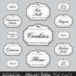 Royalty-Free Stock Vector Image: Ornate food storage labels vol1 (vector)