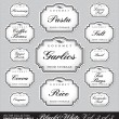 Ornate food storage labels vol3 (vector) — Vettoriale Stock
