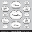 Ornate food storage labels vol3 (vector) - Stock Vector