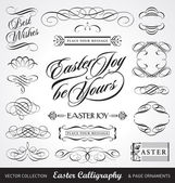 Easter calligraphy set (vector) — Stock Vector